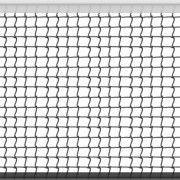 Сетка большой теннис Д-2,8мм, яч. 40x40 мм, цв. белый-зеленый. Размер 1,07x12,8 м обш. с 4-х сторон