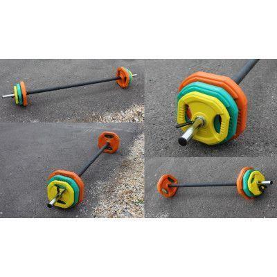 Штанга для аэробики PROFI-FIT 20090, обрезиненные диски (1,25 кг; 2,5 кг; 5 кг) по 2шт